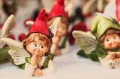 Härliga Angel Christmas Decorations Royaltyfria Bilder