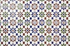 Härliga arabiska mosaiktegelplattor Arkivfoto