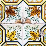 Härliga Art Texture/traditionellt utsmyckat portugisiskt dekorativt Fotografering för Bildbyråer
