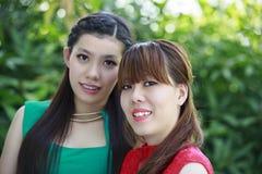 Härliga asiatiska flickor Arkivfoton