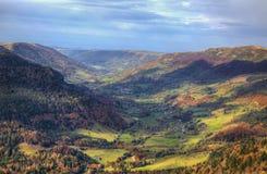 Härliga Autumn Valley arkivbilder