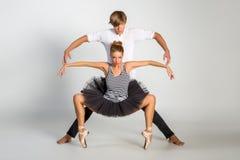 Härliga balettpar Royaltyfri Bild