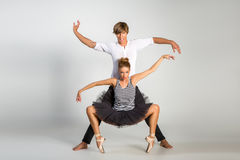 Härliga balettpar Arkivfoto