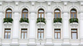 härliga balkonger i det lima Peru centret Royaltyfria Foton