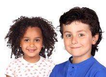 härliga barn två Royaltyfri Fotografi