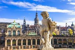 Härliga barocka Dresden - Tyskland royaltyfri fotografi