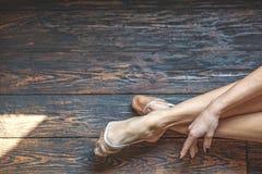 Härliga ben av dansflickan Royaltyfria Foton