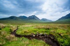 Härliga berg av Glencoe arkivfoton