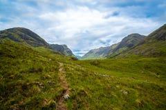 Härliga berg av Glencoe royaltyfria foton