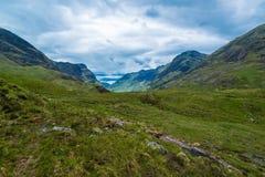 Härliga berg av Glencoe fotografering för bildbyråer