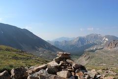 Härliga berg av Sawatchen spänner, Colorado Rocky Mountains arkivfoto
