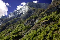 Härliga berg i Lysefjorden Arkivbilder