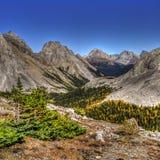 Härliga berglandskap i höst royaltyfri bild