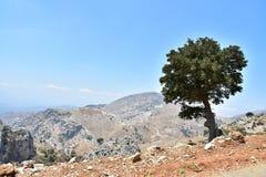 Härliga berglandskap i Kreta Royaltyfri Bild