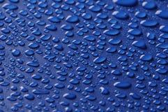 härliga blåa droppar Arkivfoto