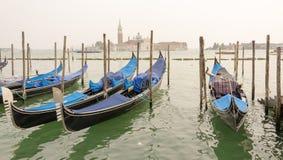 Härliga blåa gondoler Royaltyfria Bilder