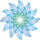 Härliga blåa Lotus Flower Icon royaltyfri illustrationer