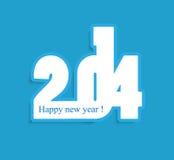 Härliga blått idérik färgrik 2014 för lyckligt nytt år  Royaltyfria Bilder