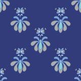 Härliga blått och Gray Vector Seamless Pattern Arkivbild
