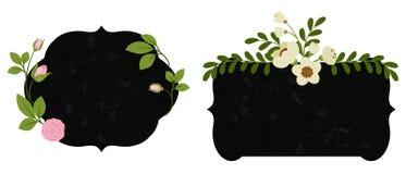 Härliga blom- etiketter Del 2 Arkivfoto