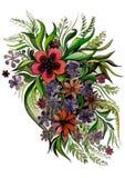 Härliga blommor i olika former Royaltyfria Foton