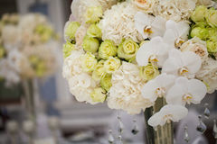 Härliga blommor på tabellen Royaltyfria Bilder