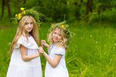 Härliga blonda flickor Arkivfoton