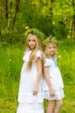 Härliga blonda flickor Arkivbilder
