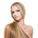 härliga blonda hår Royaltyfri Bild