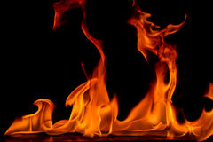 Härliga brandflammor Arkivbilder