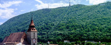 Härliga Brasov Rumänien Arkivbilder