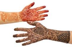 härliga brud- händer Royaltyfria Foton