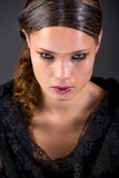 härliga brunettrevor Royaltyfria Bilder