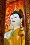 Härliga Buddha avbildar i tempel Royaltyfria Foton