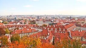 Härliga byggnader i Prague Arkivfoton