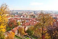 Härliga byggnader i Prague Royaltyfri Bild