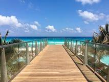 Härliga Cancun sikter arkivfoton