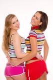 härliga caucasian flickor två Royaltyfri Bild