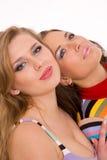härliga caucasian flickor två Royaltyfria Foton