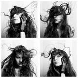 härliga collagekvinnor Royaltyfria Foton
