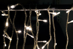 Härliga defocused LEDDE ljus med varm signalbakgrund Fotografering för Bildbyråer