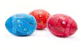 härliga dekorerade easter ägg Arkivfoto