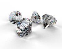 härliga diamanter Fotografering för Bildbyråer