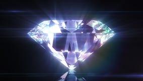 Härliga Diamond Close-Up med Matte i kretsad animering HD 1080 royaltyfri illustrationer