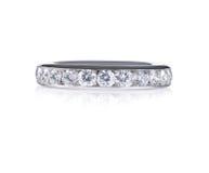 Härliga Diamond Wedding Anniversary Band Ring Royaltyfria Bilder