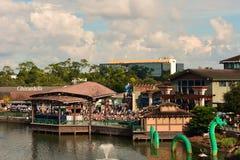 Härliga Disney fjädrar sikt på sjöBuena Vista område Loppbegreppsvykort arkivfoton