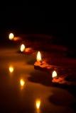 Härliga Diwali Candels Royaltyfri Bild