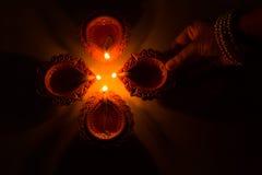Härliga Diwali Candels Fotografering för Bildbyråer