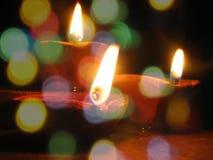 Härliga Diwali lampor Royaltyfri Bild
