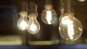 Härliga Edison lampor arkivfilmer
